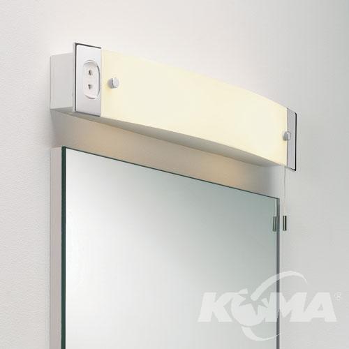 SHAVER LIGHT kinkiet z gniazdkiem 2x40W E14 biały/chrom