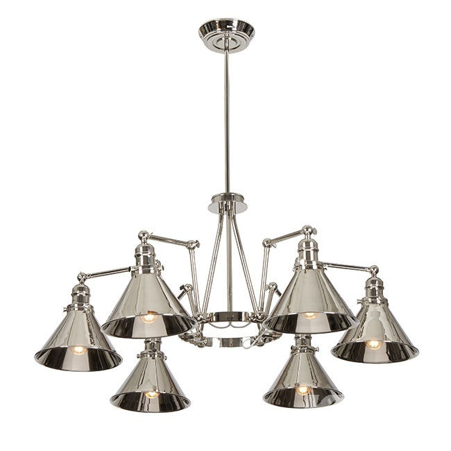 Provence lampa wisząca 6x60W E27 230V nikiel