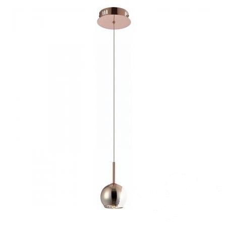 Crystal Bronce lampa wisząca 1x20W G4 230V brązowe szkło
