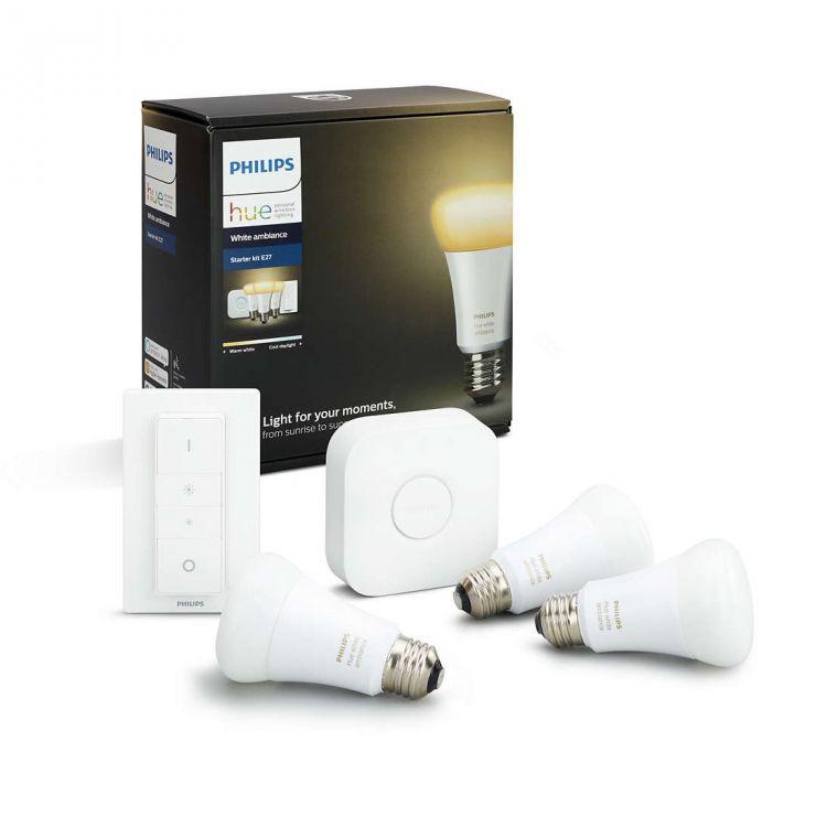 Zestaw strtowy Hue White Ambiance 3x9,5W E27 2200-6500K 230V + mostek + regulator przyciemniania