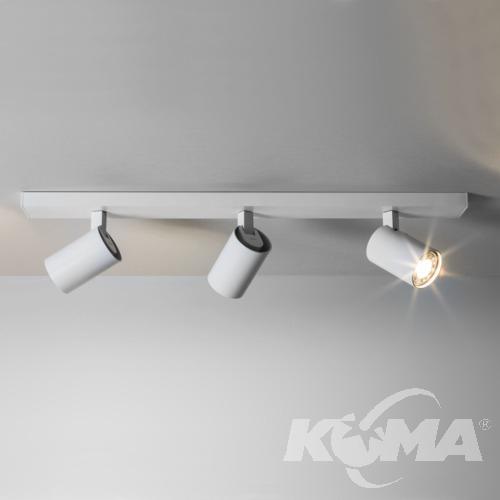Ascoli reflektory sufitowe na listwie 3x50W GU10 60cm biały