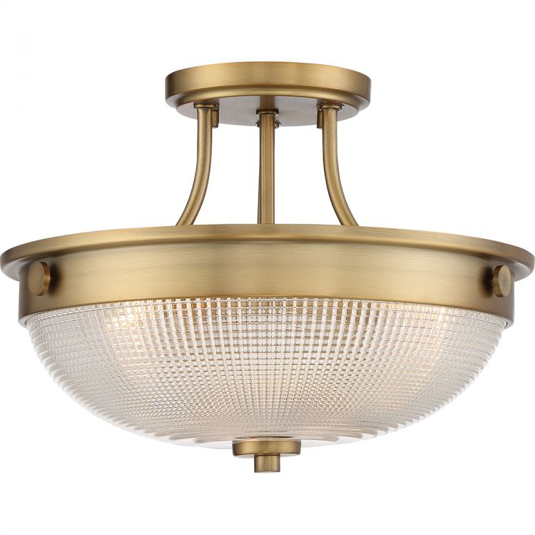 Mantle lampa sufitowa plafon 2x60W E27 230V wyblakły mosiądz