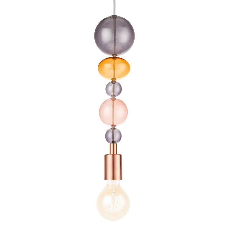 Avoltri 1 lampa wisząca 1x60W E27 230V miedziana/wielokolorowa