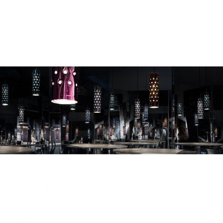 Dimple lampa wisząca srebrna 1x8W E27 230V