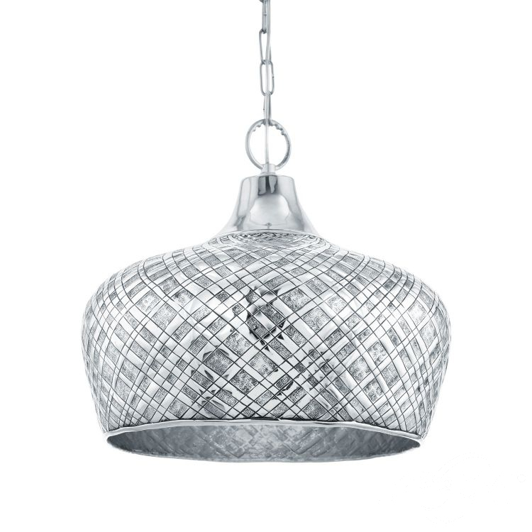 Saltash lampa wisząca 44,5cm 1x60W E27 230V srebrna/chrom