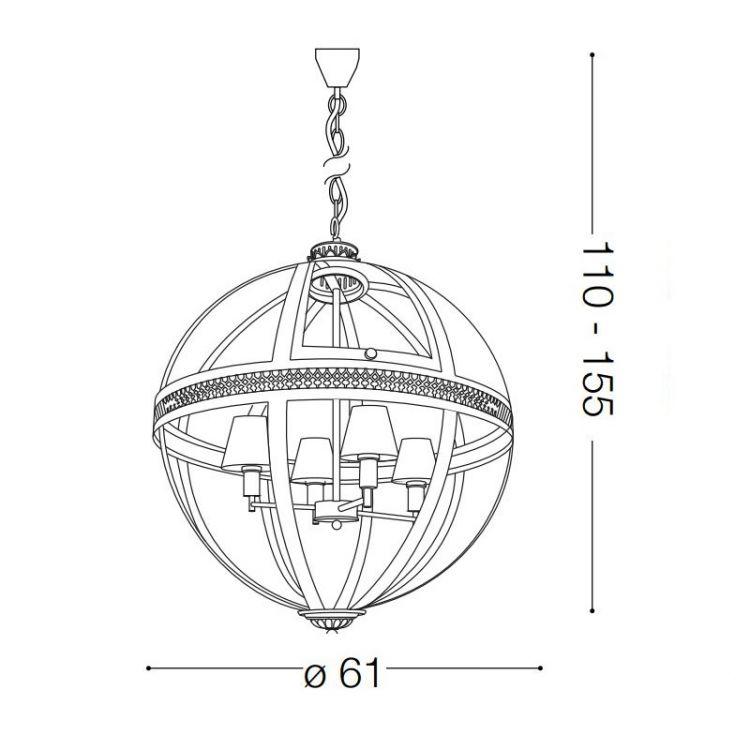 lampa wisząca World IDEAL LUX