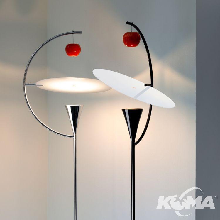 lampa podłogowa czarna Newton NEMO
