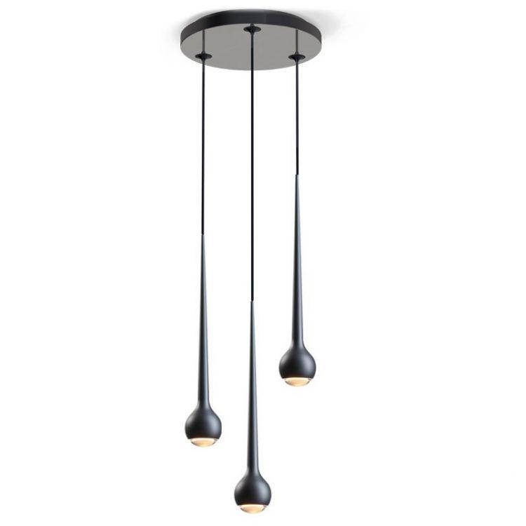 Falling lampa wisząca 3x11W LED 230V czarna mat