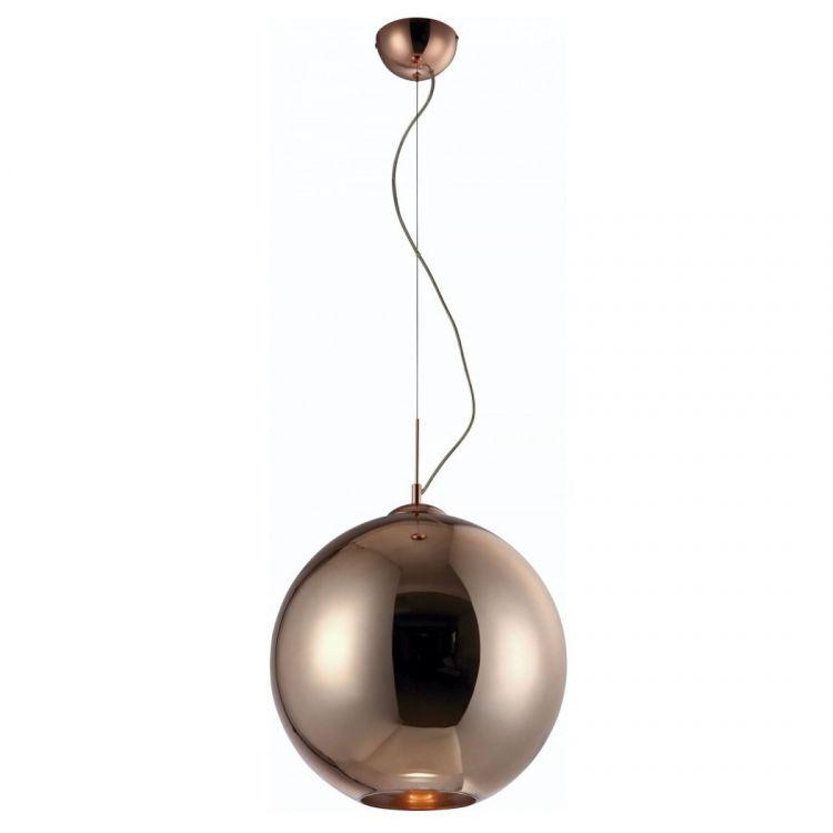 Crystal Bronce lampa wisząca 1x20W E27 230V brązowe szkło