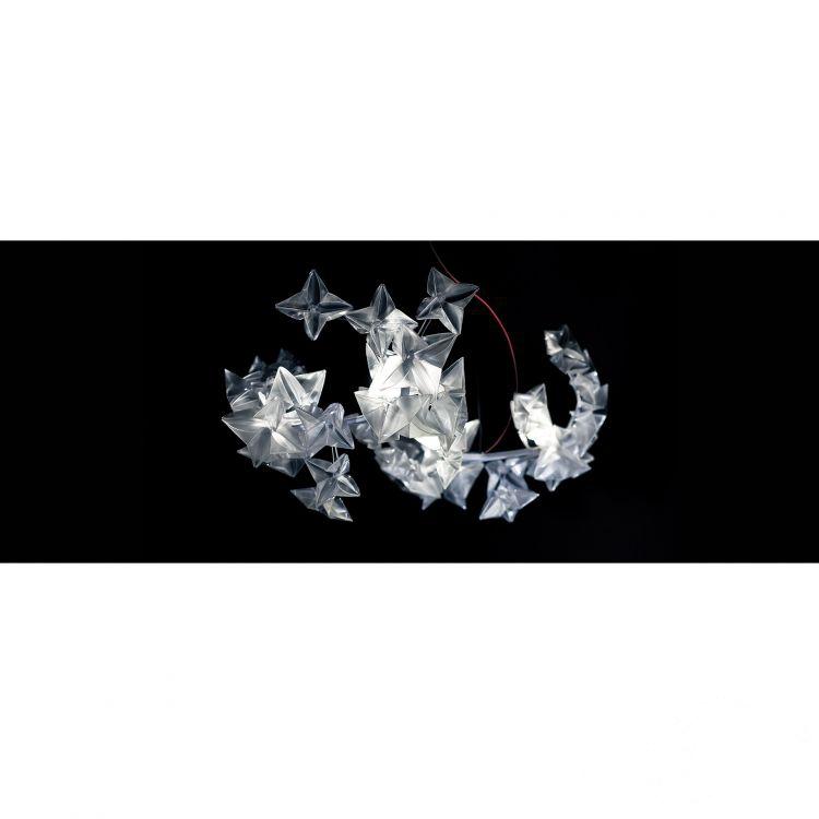 Hanami lampa wisząca 25W LED 2700K 230V transparentna