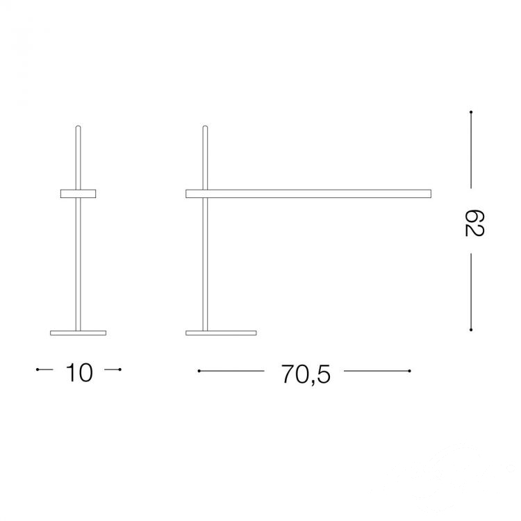 Gru lampa stołowa 6,3W LED 230V biała-chrom