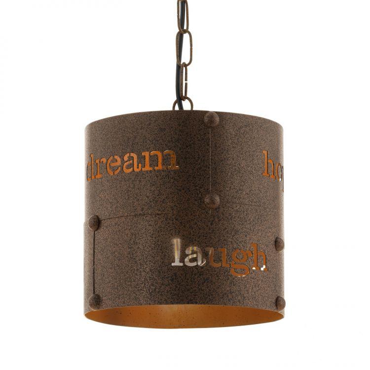 Coldingham lampa wisząca 20cm 1x60W E27 230V brąz/rdzawa