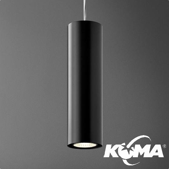 Lan lampa wisząca czarna (mat) 1x50W GU10 230V