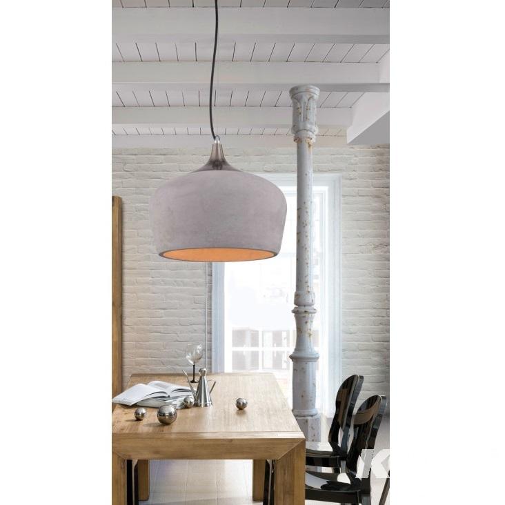 Parma lampa wisząca 1x60W E27 230V betonowa