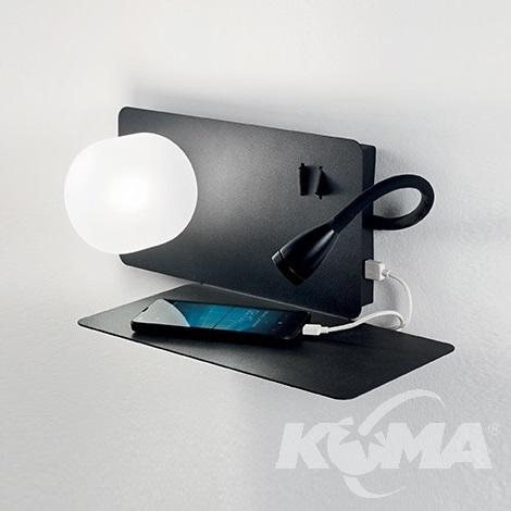 kinkiet z gniazdem USB Book-2 IDEAL LUX