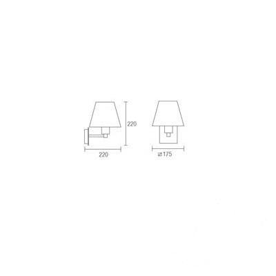 Lyon kinkiet 1x60W E27 230V nikiel + biały abażur
