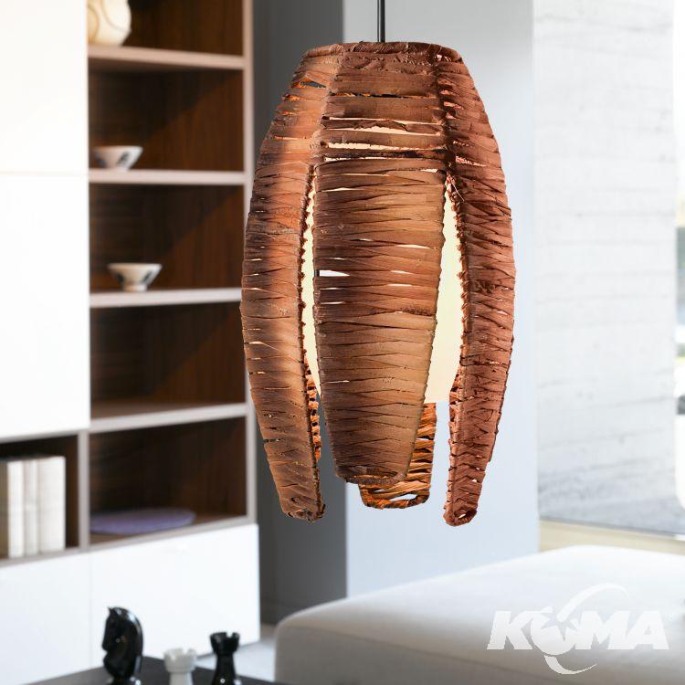 Mongu lampa wisząca 3x60W E27 230V brąz