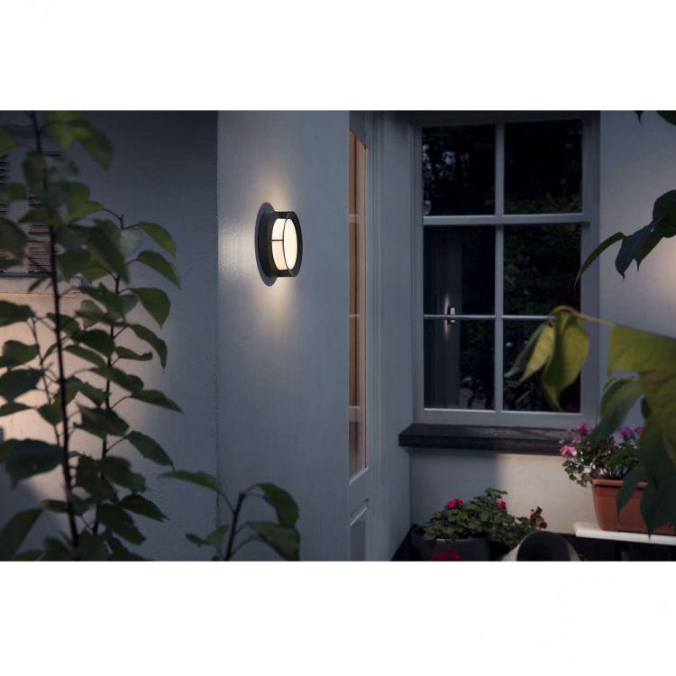 Actea kinkiet zewnętrzny 12W LED 230V czarny
