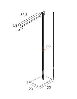 Mecanica lampa stojaca led 6W czarna