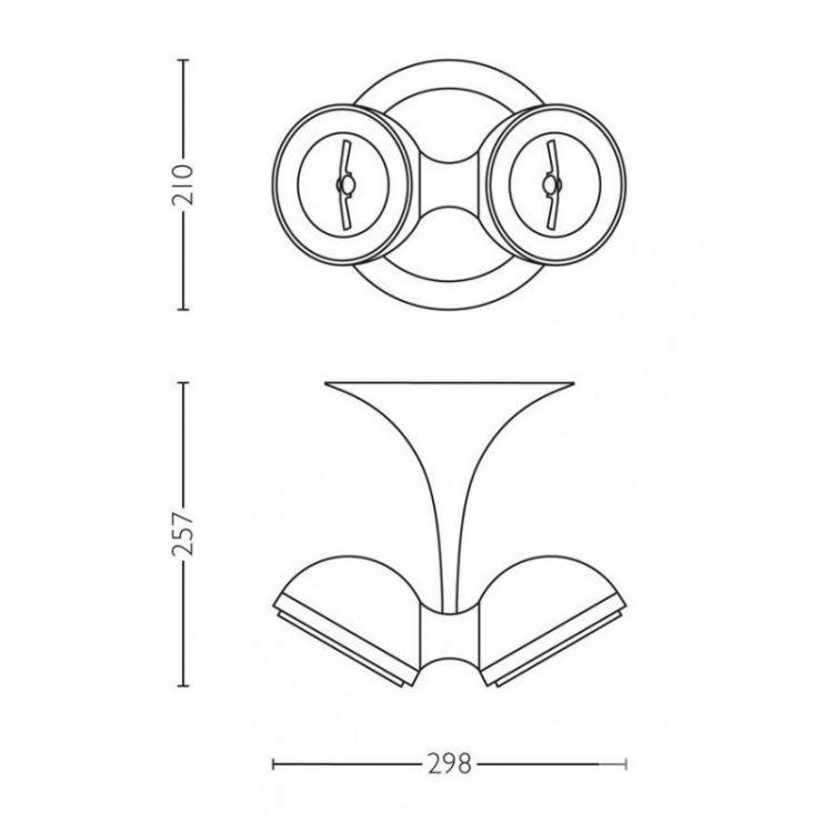 Pallo lampa sufitowa 2x50W AR111 G53 biała