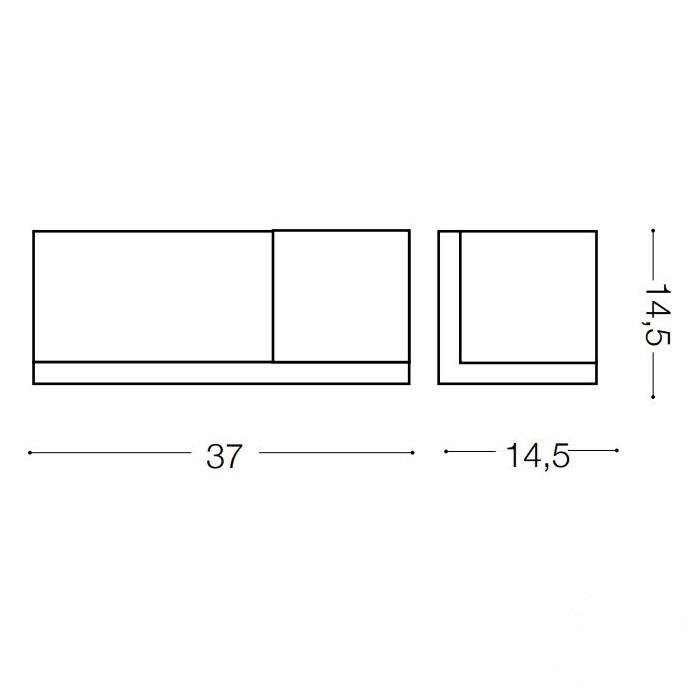 Toledo 1 kinkiet 1x60W E27 230V drewno