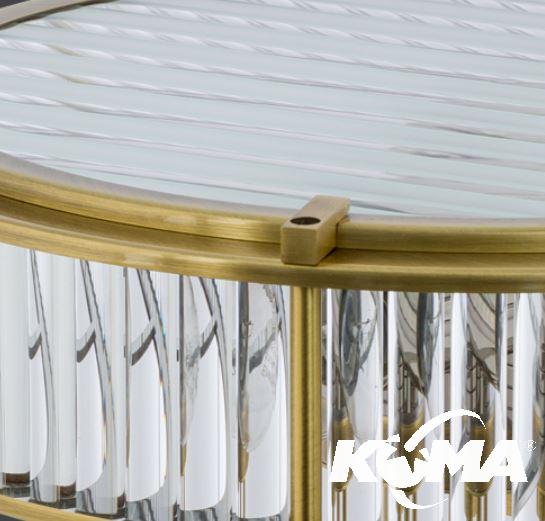 lampa wiszący z plafonami śr.24cm na rurce patyna  Lavone KUTEK