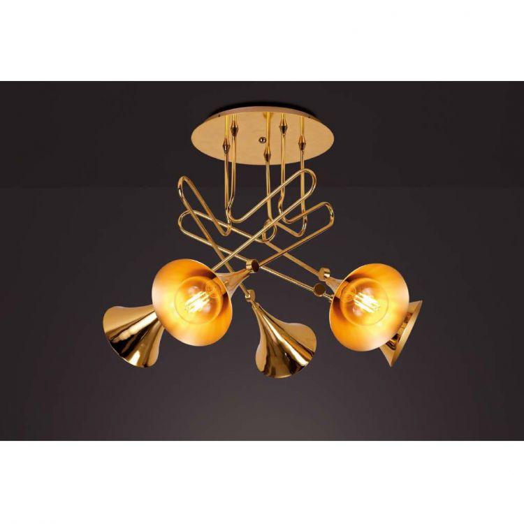 Jazz lampa sufitowa 5x20W E27 230V złota