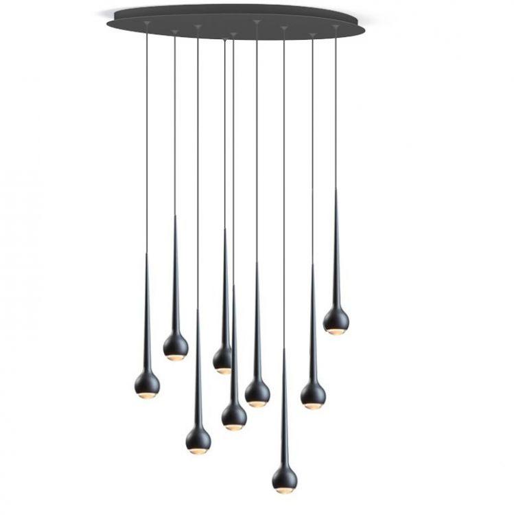 water lampa wisząca plafon czarny mat  Falling TOBIAS GRAU
