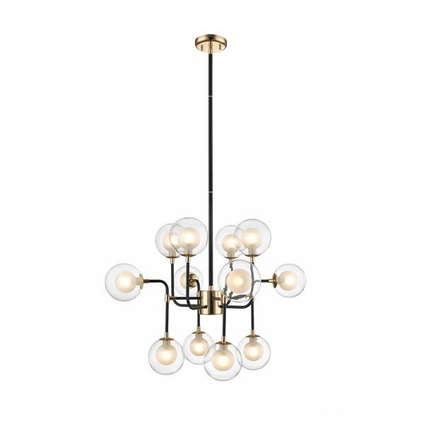 Riano lampa wisząca 12x42W G9 230V złoto-czarna