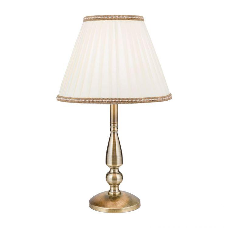 Lampa stołowa z abażurem patyna 1xE27