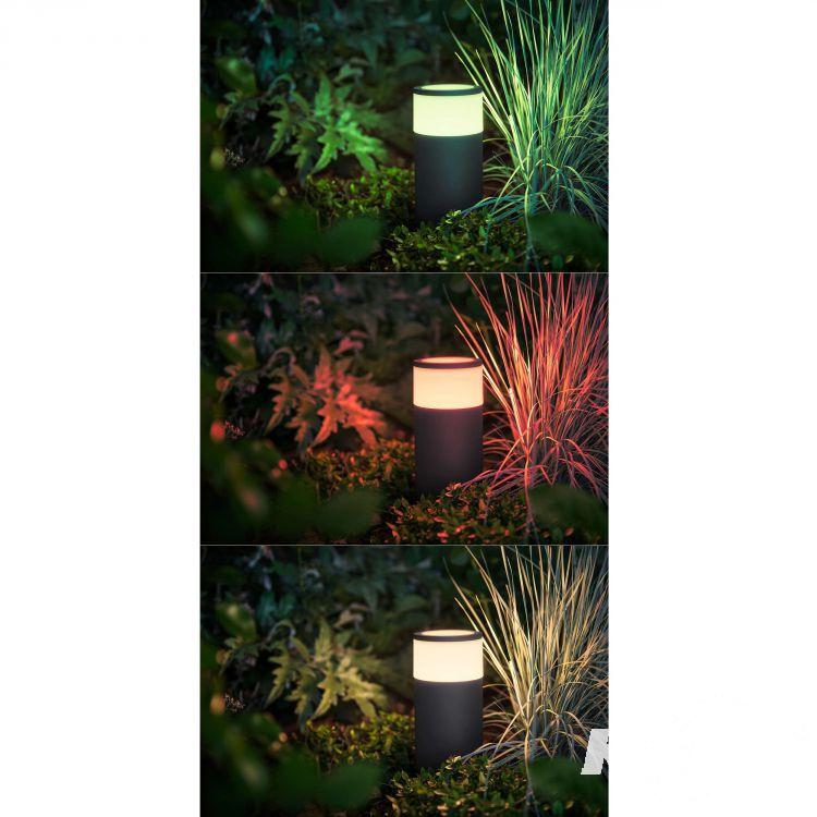 Calla Hue lampa stojąca zewnętrzna 1x8W LED 230V czarna + zasilacz