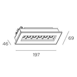oprawa wpuszczana czarna Bento LEDS C4