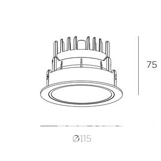 oprawa wpuszczana biała/chromowa Sia LEDS C4