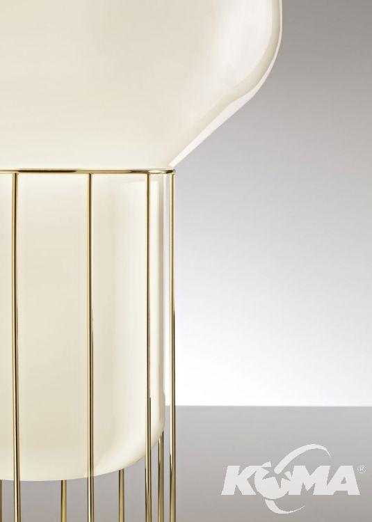 Aerostat lampa stołowa E27 1x150W 33cm czarny chrom/biały