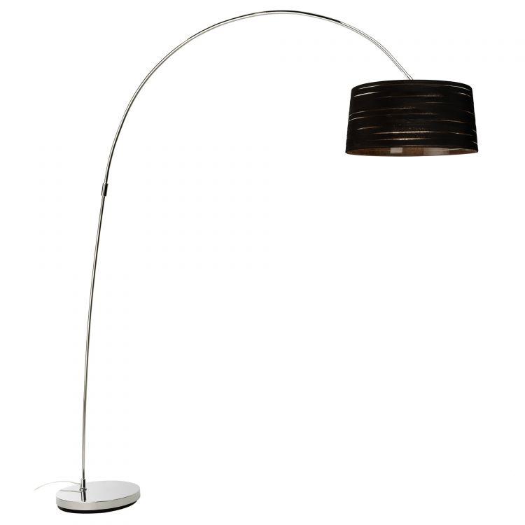 Magma lampa podłogowa 1x100W E27 230V chrom + abażur