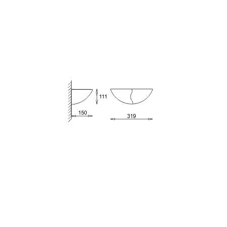 Piaskowa - szamot jasny ażurowy kinkiet 1x60W E27 230V