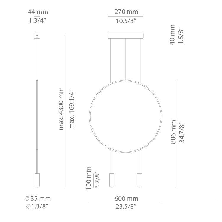 Revolta lampa wisząca 2x6,1W LED 3000K 230V czarna