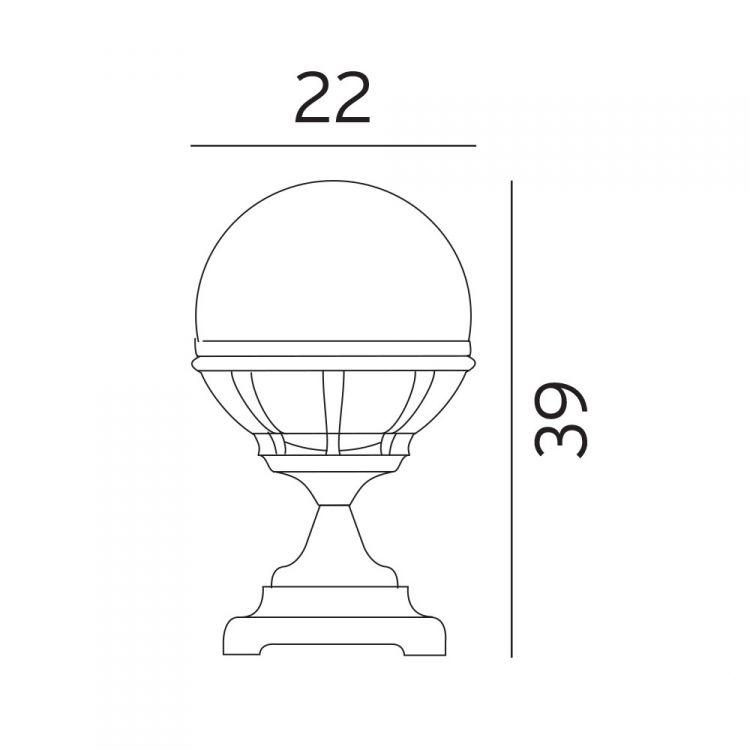lampa stojąca zewnętrzna Bologna NORLYS