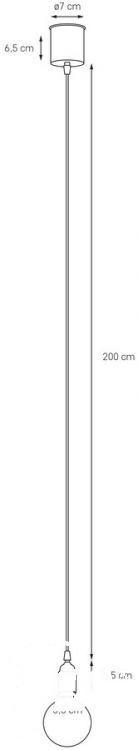 Single lampa wisząca 1x60W E27 niebieski