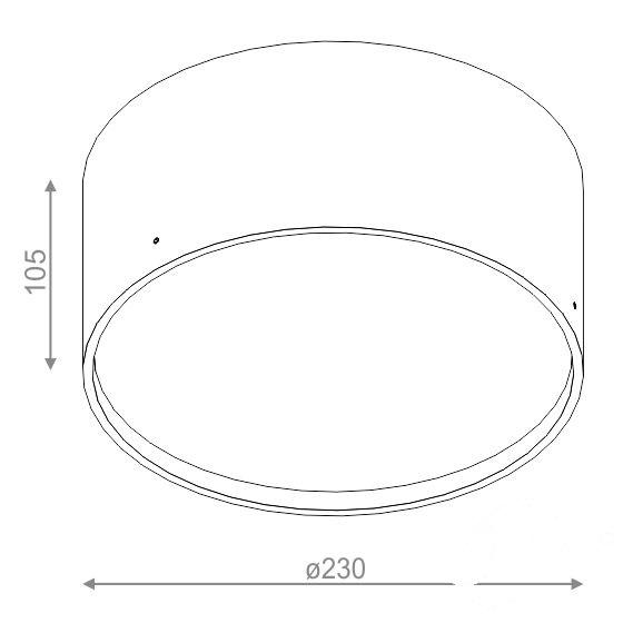 Ring oprawa sufitowa biała (mat) 1x22W G10q 230V