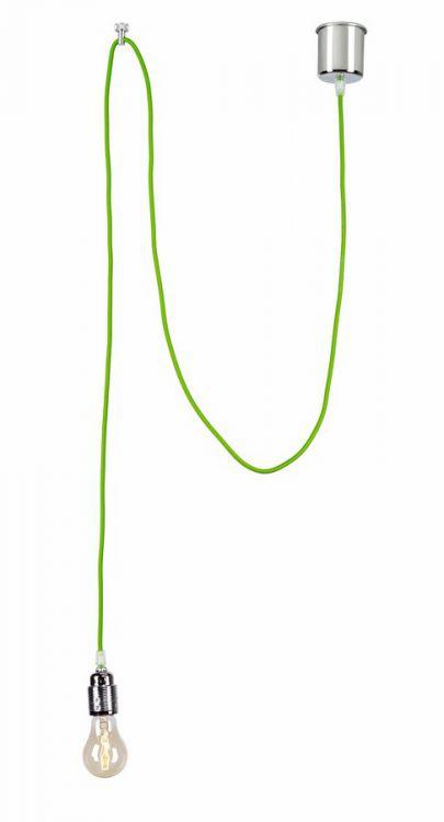 Single lampa wisząca 1x60W E27 zielony