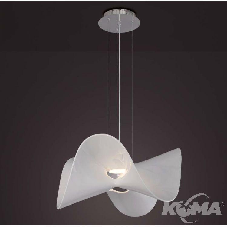 Manta lampa wisząca 20W LED 3000K 230V biała-chrom