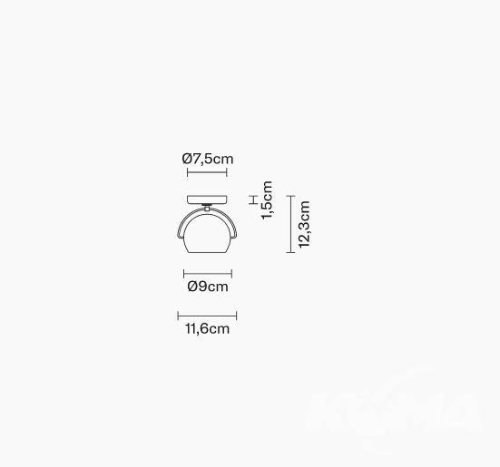 Beluga colour kinkiet/plafon 1x75W GU10 transparentny