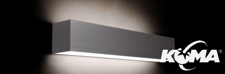 Line 30  W kinkiet LED 1x9.8W C01 - aluminium