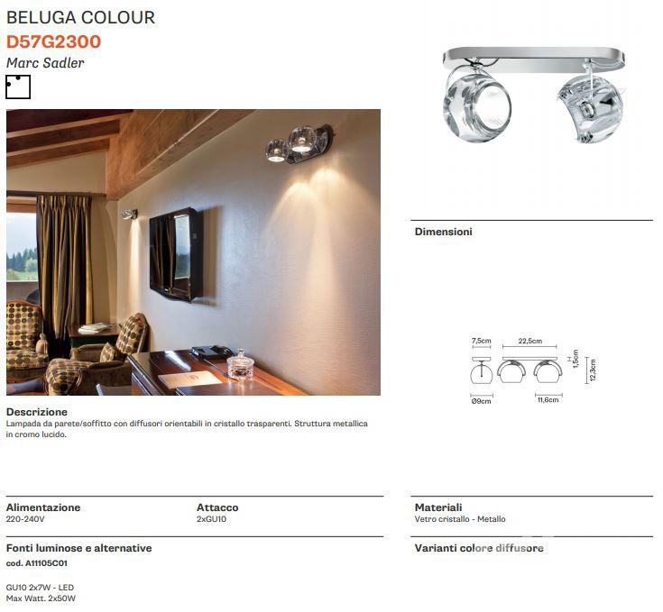 colour kinkiet/palafon Beluga FABBIAN