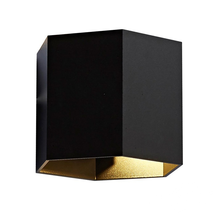 Polygon kinkiet 1x40W G9 230V czarny/złoty