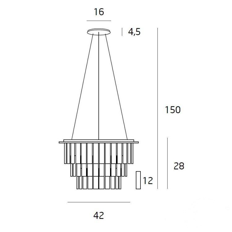 Monaco lampa wisząca 9x40W G9 230V chrom
