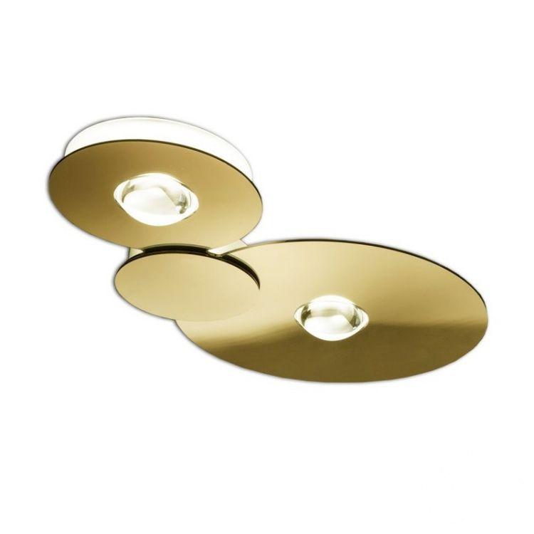 Bugia lampa sufitowa 2x18W LED 2700K 3000lm. złota
