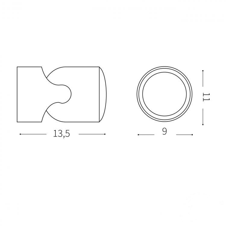 ap1 kinkiet zewnętrzny czarny Xeno IDEAL LUX