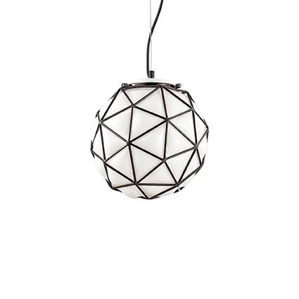 Maglie D25 lampa wisząca 1x60W E27 230V biała + czarne elementy